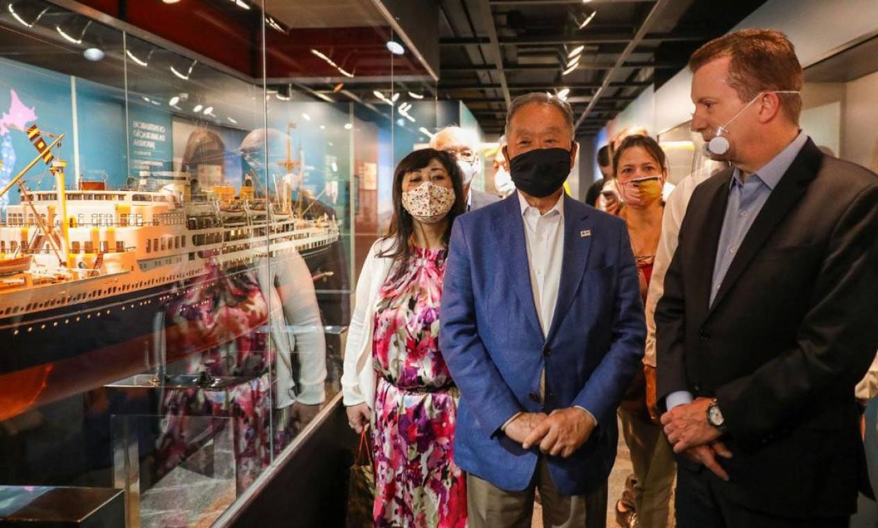 Candidato a prefeito de São Paulo, Celso Russomanno (Republicanos) visita o museu da Imigração Japonesa do Brasil, no bairro da Liberdade no centro da cidade Foto: Reprodução / Redes Sociais - 14/10/2020