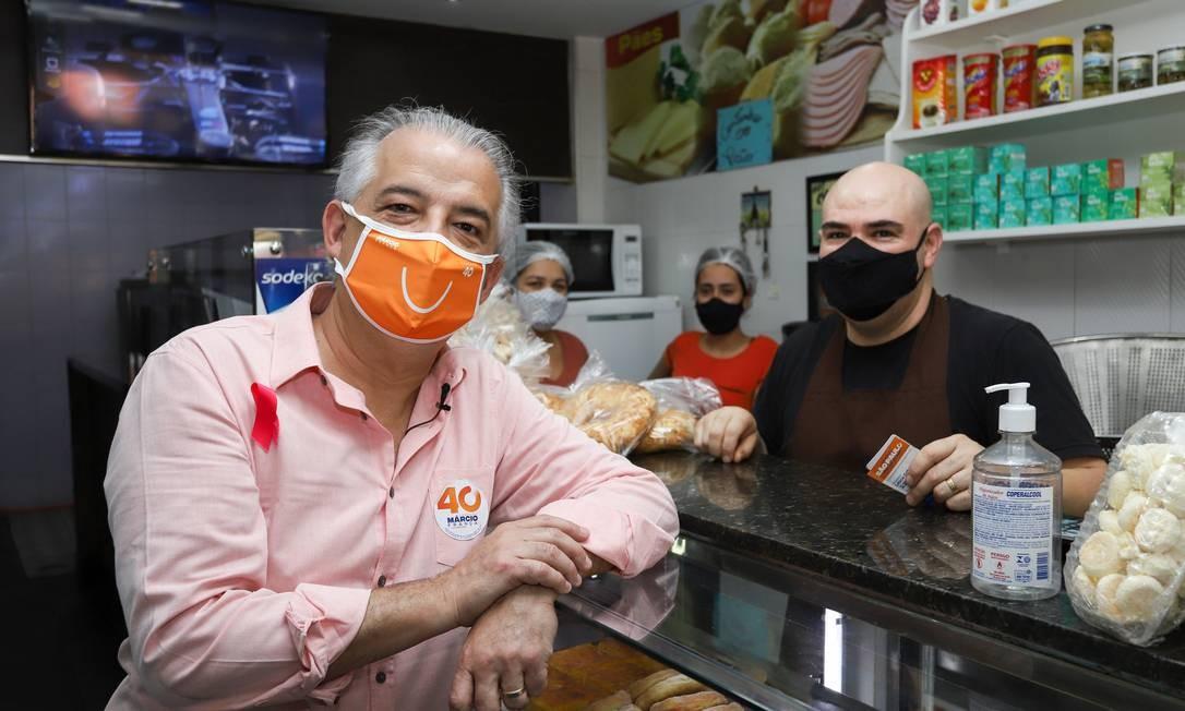 Márcio França visita a Brasilândia, na Zona Norte de São Paulo, durante campanha Foto: Fernanda Luz / Divulgação - 14/10/2020