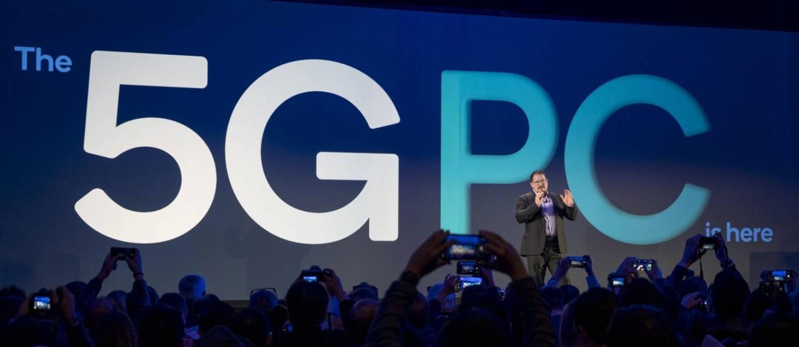 Cristiano Amon, presidente da Qualcomm, em evento em Las Vegas, em janeiro de 2020 Foto: David Paul Morris / Bloomberg