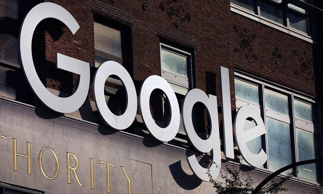 Sede do Google em Manhattan: ação judicial perto das eleições americanas. Foto: SPENCER PLATT / AFP