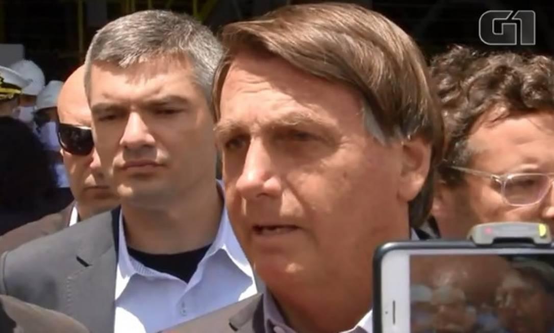 Presidente Jair Bolsonaro diz que mandou cancelar compra da Coronavac, vacina de origem chinesa Foto: Reprodução G1