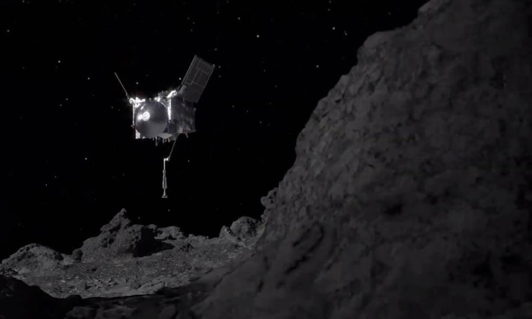 Sonda Osiris-Rex fez pouso bem-sucedido em asteróide Foto: NASA