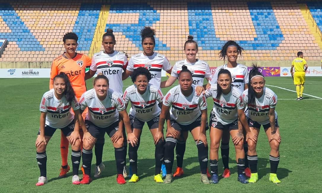 São Paulo venceu o CATS por 29 a 0 no Paulistão Feminino Foto: Reprodução