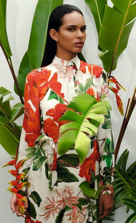 Emilly Nunes no inverno 2020 da estilista Lenny Niemeyer Foto: Divulgação