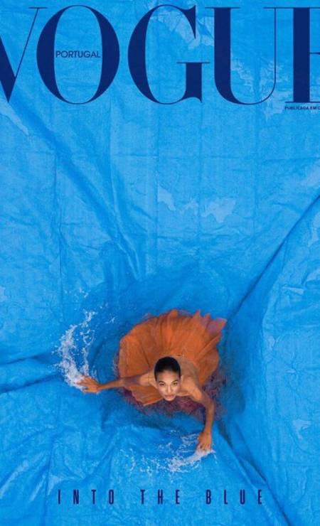 Emilly Nunes na capa da Vogue Portugal Foto: Reprodução