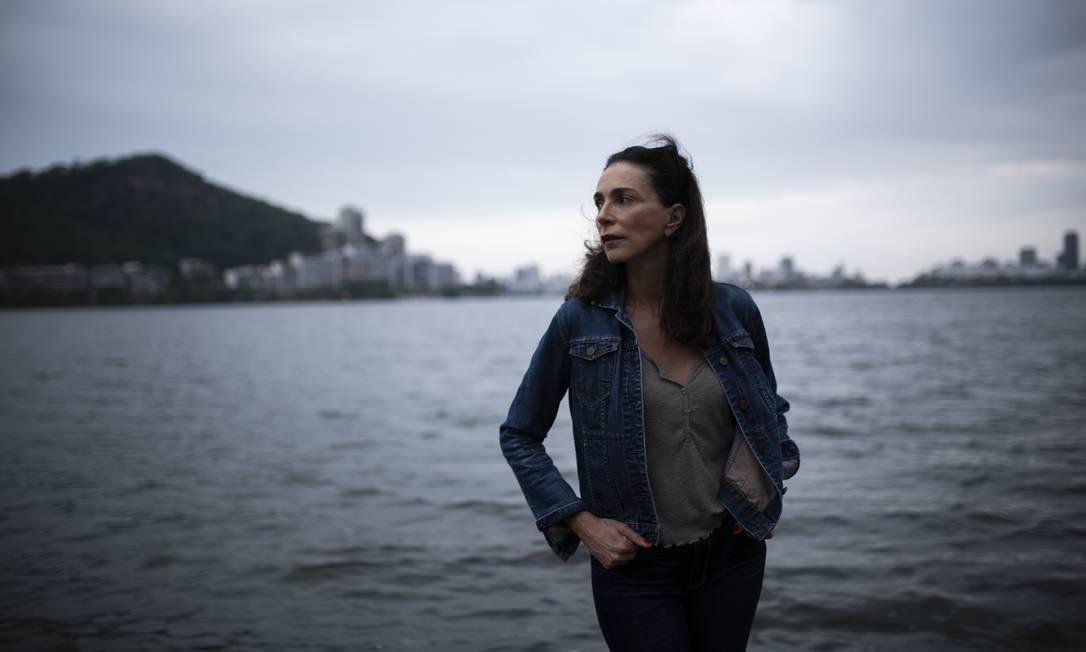 Isabel na Lagoa: ela fala sobre o seu amor pelo Rio Foto: Leo Aversa