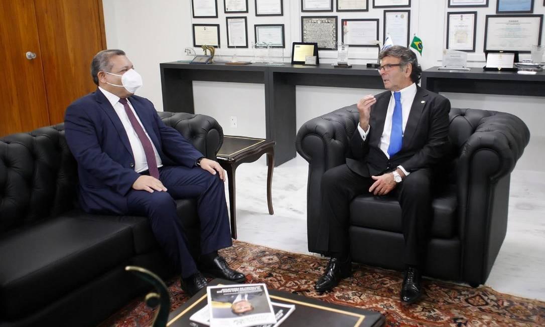 O desembargador Kassio Marques e o presidente do Supremo Tribunal Federal (STF), minsitro Luiz Fux Foto: STF