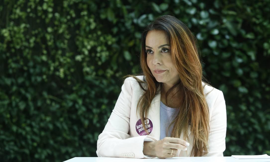 A candidata do PSC à Prefeitura do Rio, Glória Heloíza Foto: Fabio Rossi / Agência O Globo