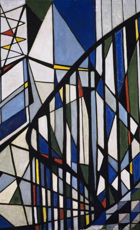 'Escada' (1951), oléo sobre tela Foto: Associação Cultural O Mundo de Lygia Clark