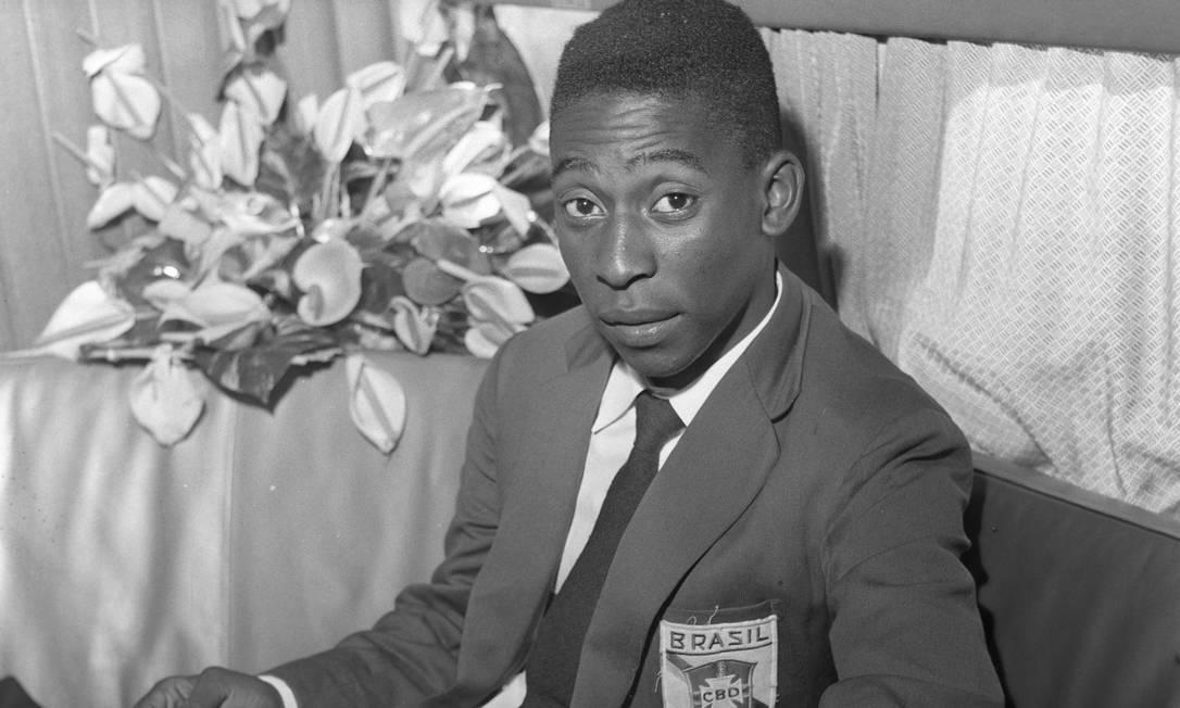 Pelé, em julho de 1958 Foto: Arquivo O Globo