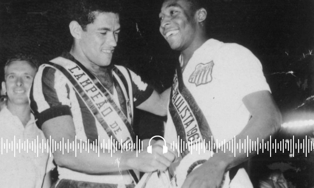 Pelé e Garrincha, em 1961 Foto: Arquivo O Globo