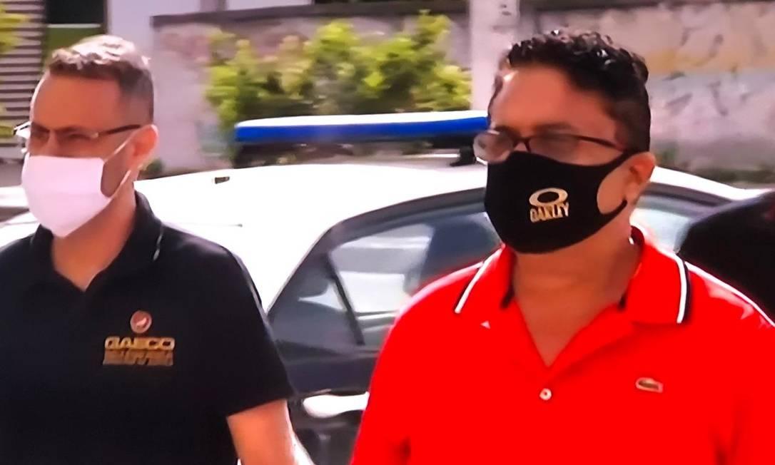 O ex-deputado estadual do Rio Silas Bento (PSL-RJ) é preso acusado da prática de rachadinha na Alerj Foto: Reprodução