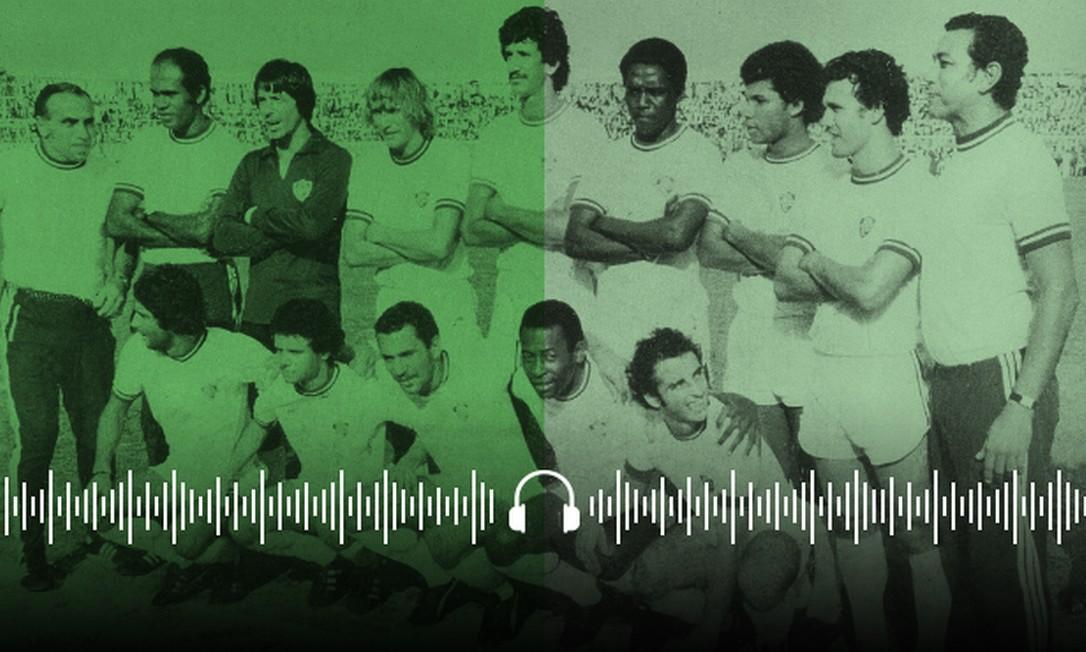 Pelé no Fluminense Foto: Editoria de Arte