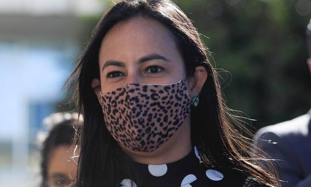 Luciana Pires, advogada de Flávio Bolsonaro Foto: Reprodução