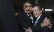 Russomanno, que posou ao lado de Bolsonarohá duas semanas, disse ontem ter opiniões próprias Foto: Edilson Dantas/Agência O Globo