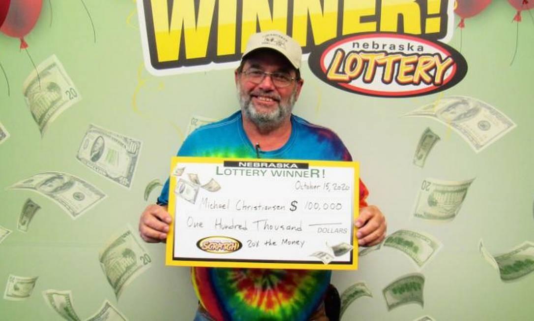 Michael Christiansen, de Nebraska, venceu duas vezes na loteria em 2020 Foto: Divulgação