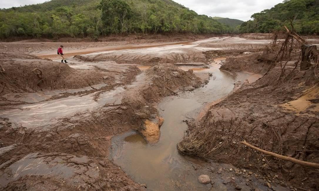 Cidade de Mariana (MG) após o rompimento de uma barragem de rejeitos Foto: Márcia Foletto