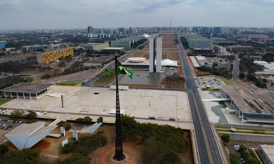 Praça dos Três Poderes, em Brasília Foto: Pablo Jacob / Agência O Globo