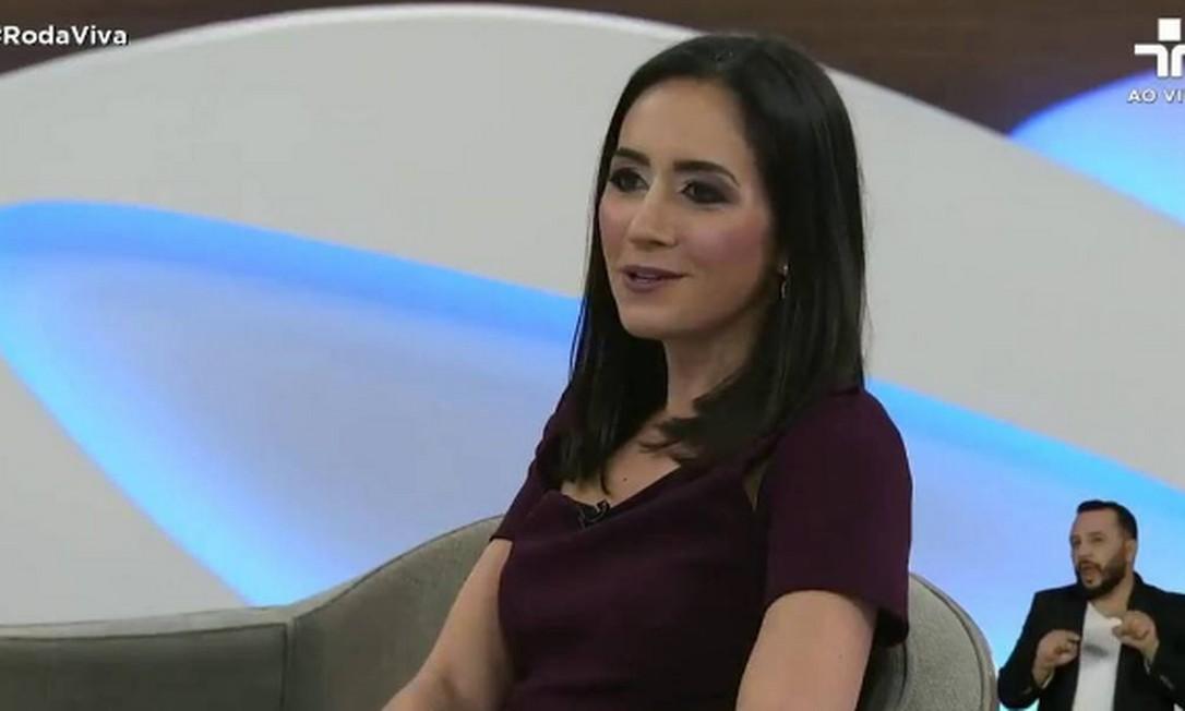 Cristina Junqueira, do Nubank, no Roda Viva. Foto: Reprodução