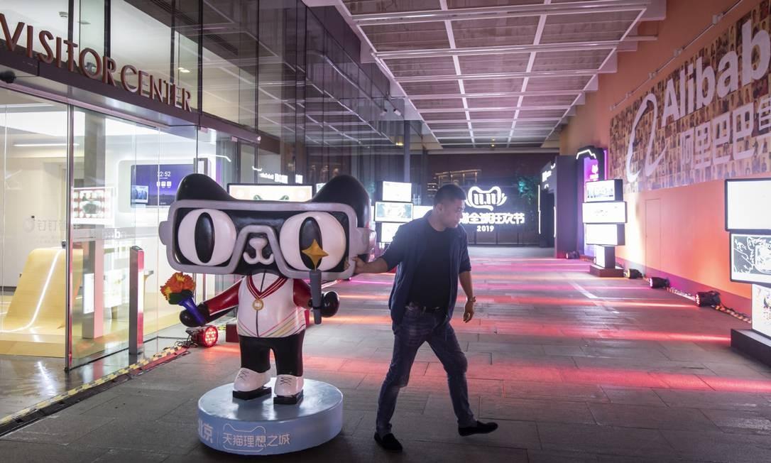 A Oferta Pública de Ações do Alibaba foi realizada em 2014 com a captação de US$ 25 bilhões Foto: Qilai Shen / Bloomberg