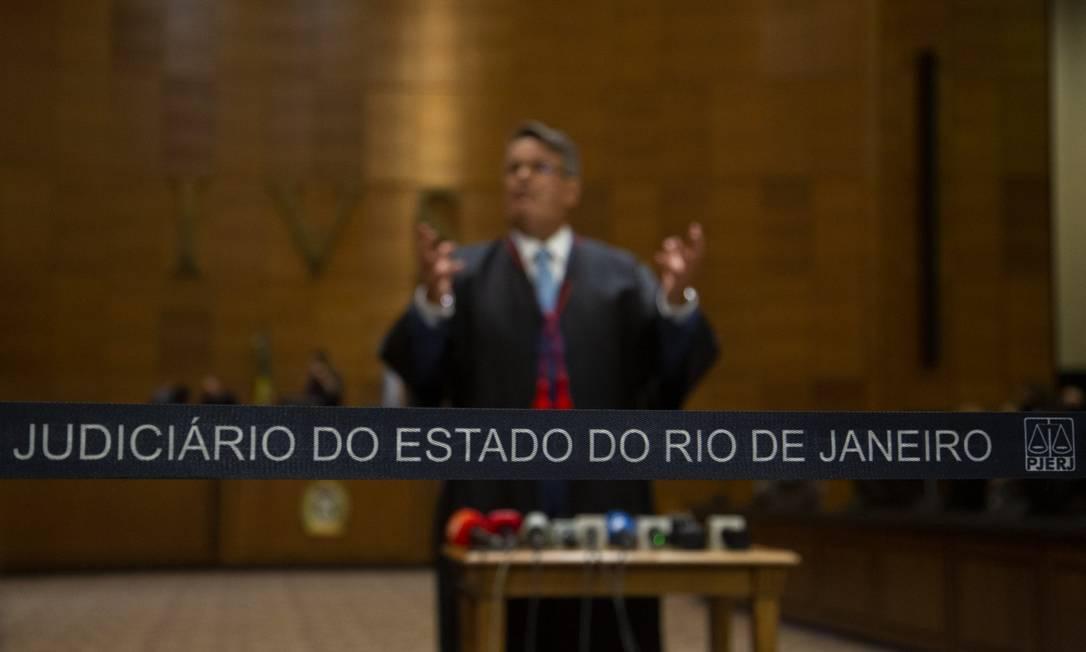Na foto, o presidente do TJRJ Claudio de Mello Tavares Foto: Gabriel Monteiro / Agência O Globo