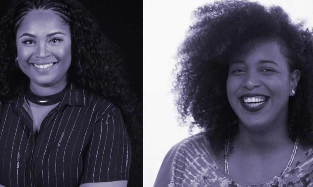 Thais Bernardes (esq.), CEO do Notícia Preta, e Midiã Noelle, idealizadora da Commbne, vão ministrar juntas o curso 'Comunicação antirracista: como enfrentar o racismo em espaços de comunicação?' Foto: Divulgação