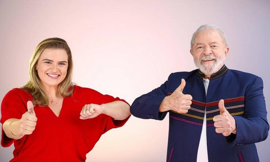 Marília Arraes, candidata à prefeita no Recife, e Lula, Foto: Reprodução