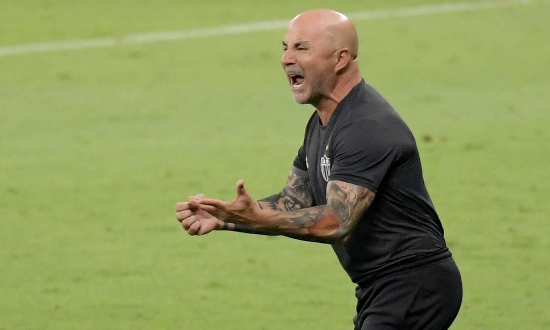 Jorge Sampaoli comanda um Atlético-MG com vocação ofensiva Foto: WASHINGTON ALVES / REUTERS