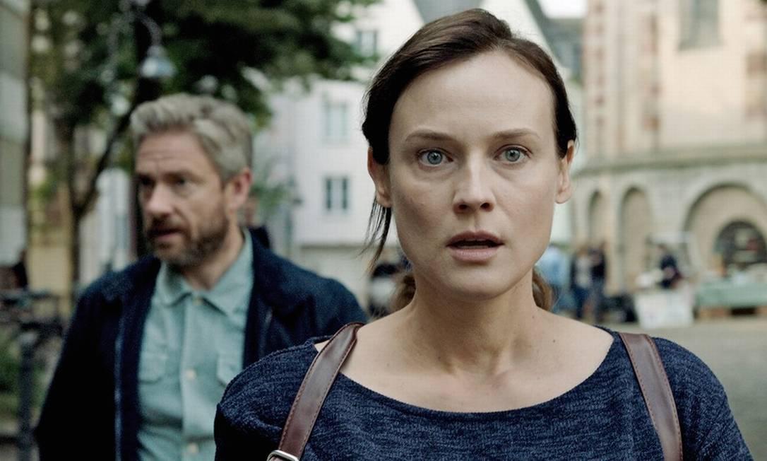 """Mergulho. """"Descobri que há algo muito específico sobre a ideia de o que é ser judeu"""", diz a atriz Foto: Kolja Brandt / Divulgação"""