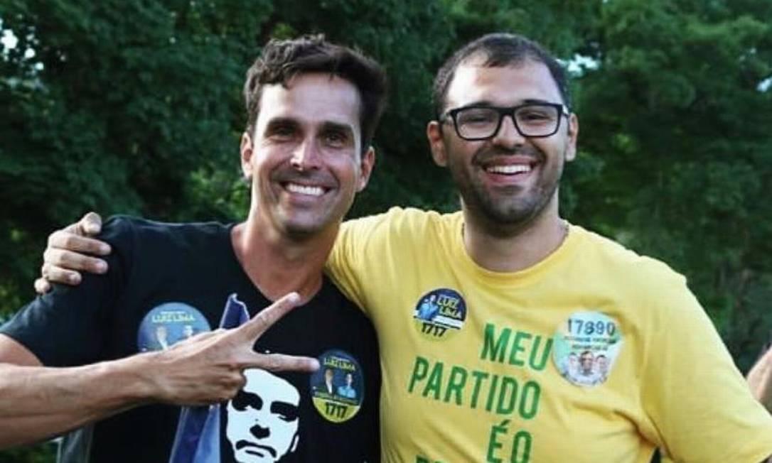 Luiz Lima e Alexandre Knoploch durante ato de campanha em 2018 Foto: Reprodução/ internet