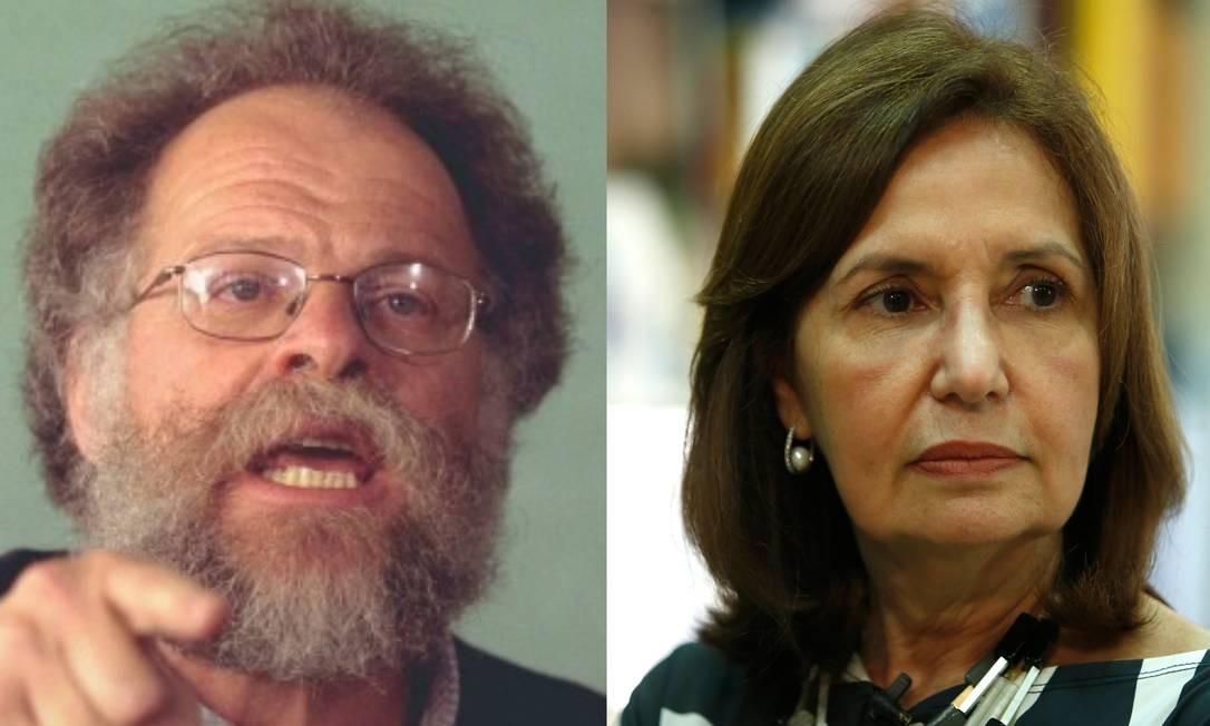 Hélio Luz, em foto de setembro de 2000, e Martha Rocha (PDT), candidata à prefeitura do Rio Foto: Gabriel de Paiva/Fábio Rossi / Agência O Globo