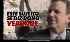 Propaganda de Crivella ataca Eduardo Paes na TV Foto: Reprodução