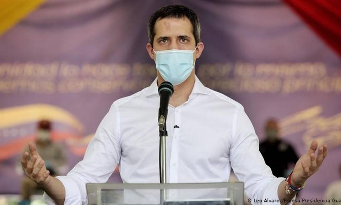 Autoproclamado presidente interino da Venezuela, Juan Guaidó foi reconhecido por dezenas de países Foto: Reprodução