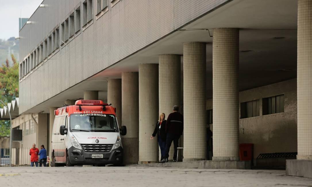 Hospital Souza Aguiar é uma das unidades da prefeitura que não têm certificação dos bombeiros contra incêndio Foto: Brenno Carvalho em 08-07-2019 / Agência O Globo