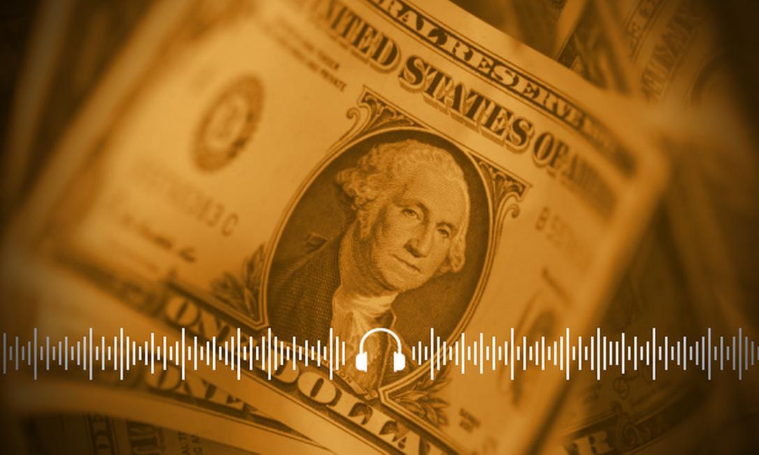 Dólar fechou a quarta-feira cotado em R$ 5,76, impactado pela 2ª onda de Covid na Europa Foto: Arte