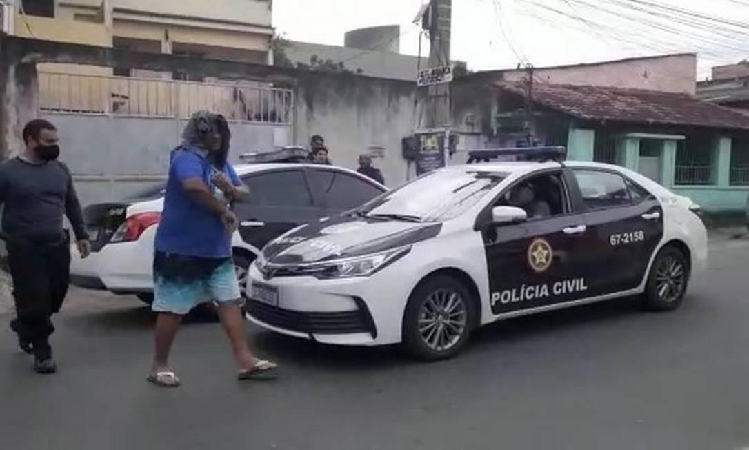 Pastor Elisamar Miranda Joaquim foi preso após ser apontado como chefe do tráfico de uma comunidade em Belford Roxo Foto: Divulgação/Pcerj