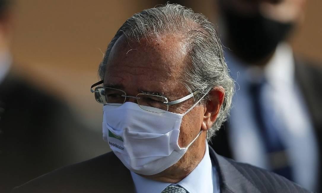 """Guedes: Caso haja segunda onda de infecções, governo vai encontrar recursos para fazer uma """"economia de guerra"""" Foto: Jorge William/Agência O Globo"""