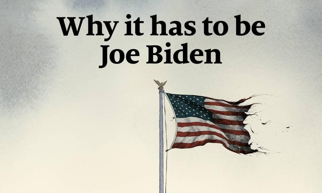Capa da revista The Economist que declara apoio ao democrata Joe Biden Foto: Reprodução