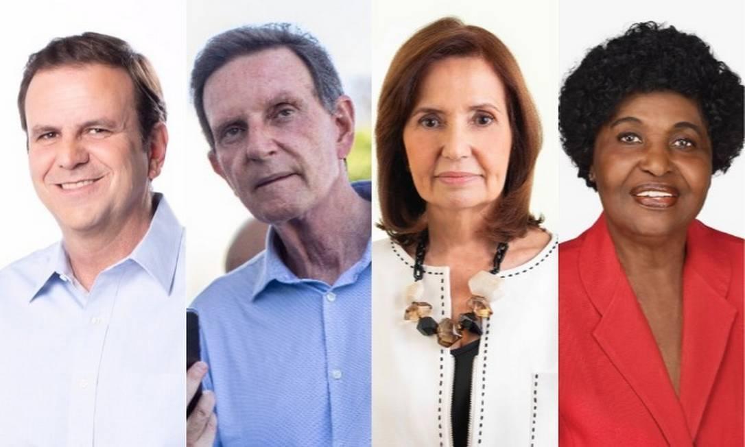 Paes, Crivella, Martha Rocha e Benedita são candidatos à Prefeitura do Rio Foto: Divulgação