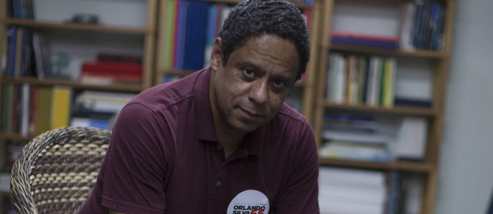 Pelo PCdoB, Orlando Silva disputa a prefeitura de São Paulo Foto: Edilson Dantas / Agência O Globo