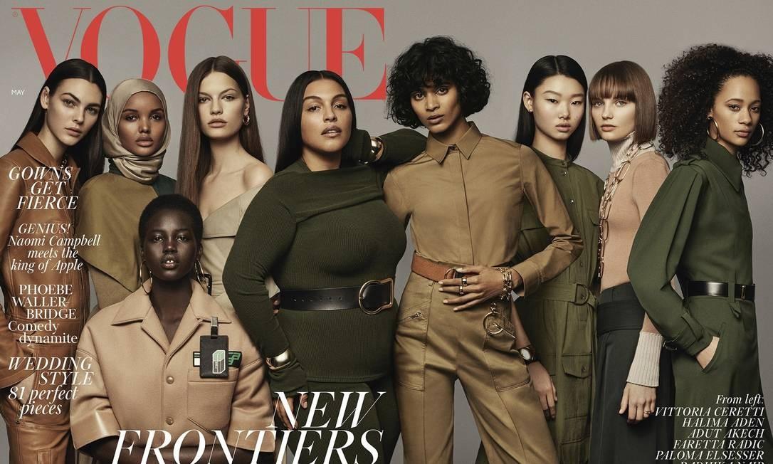 Capa da Vogue britânica de maio de 2018 Foto: Reprodução