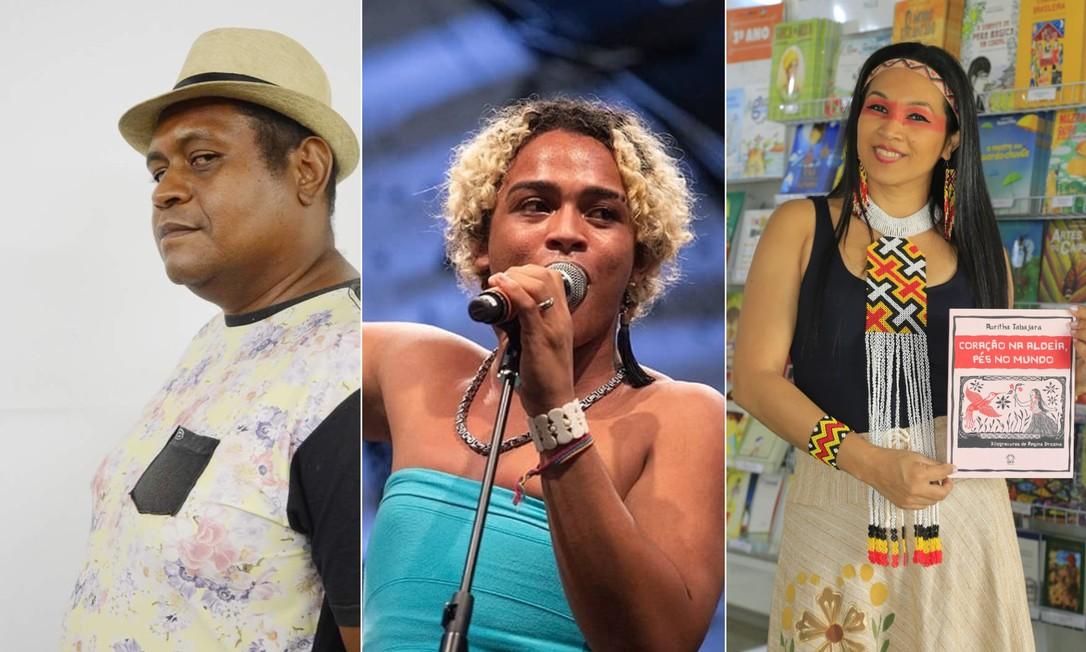 Marcio Rufino, Bixarte e Auritha Tabajara são alguns dos poetas que competirão no 'Slam Cúir', da Flup Foto: Divulgação