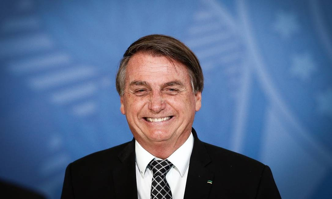 O presidente Jair Bolsonaro participa de cerimônia no Palácio do Planalto Foto: Pablo Jacob/Agência O Globo/28-10-2020