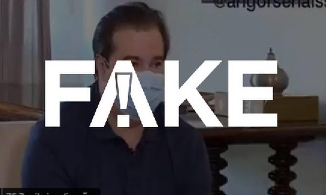 É #FAKE vídeo em que Maia xinga ministro Ricardo Salles Foto: Reprodução