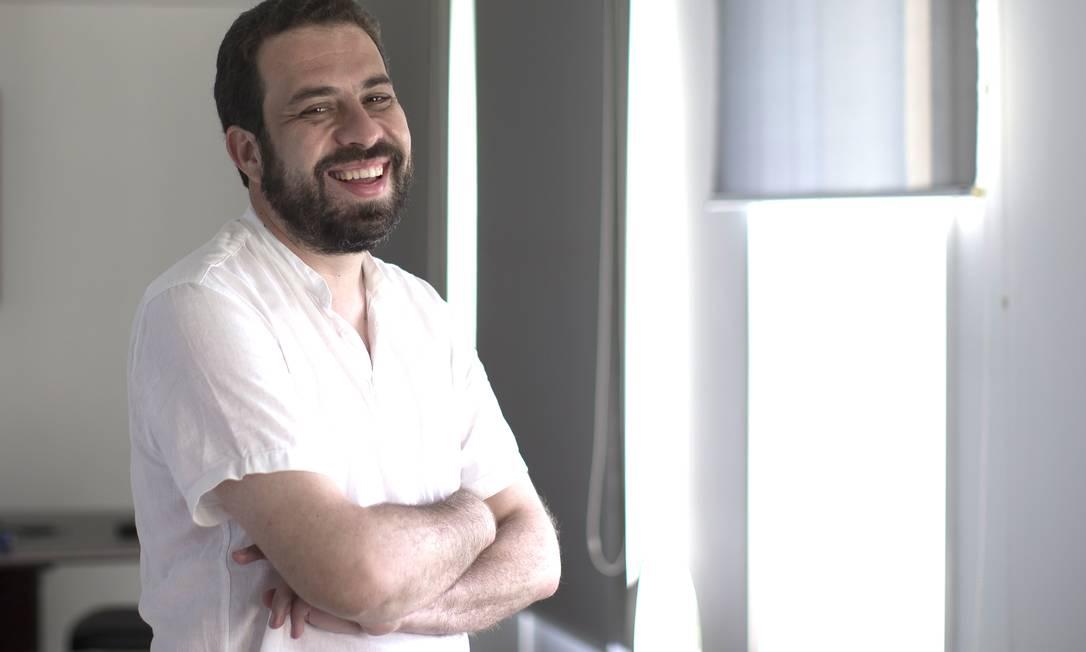Guilherme Boulos, do PSOL, candidato a prefeito de São Paulo Foto: Edilson Dantas / Agência O Globo