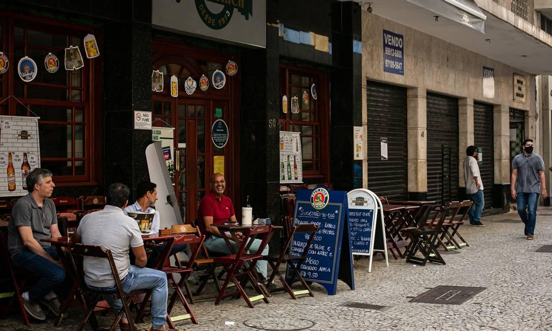 Casa Urich, na Rua São José, sente impactos da pandemia Foto: Hermes de Paula / Agência O Globo
