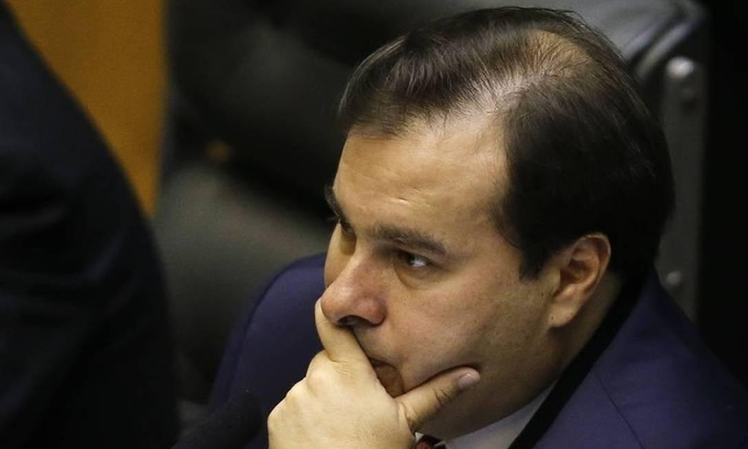 O presidente da Câmara dos Deputados Rodrigo Maia Foto: Jorge William