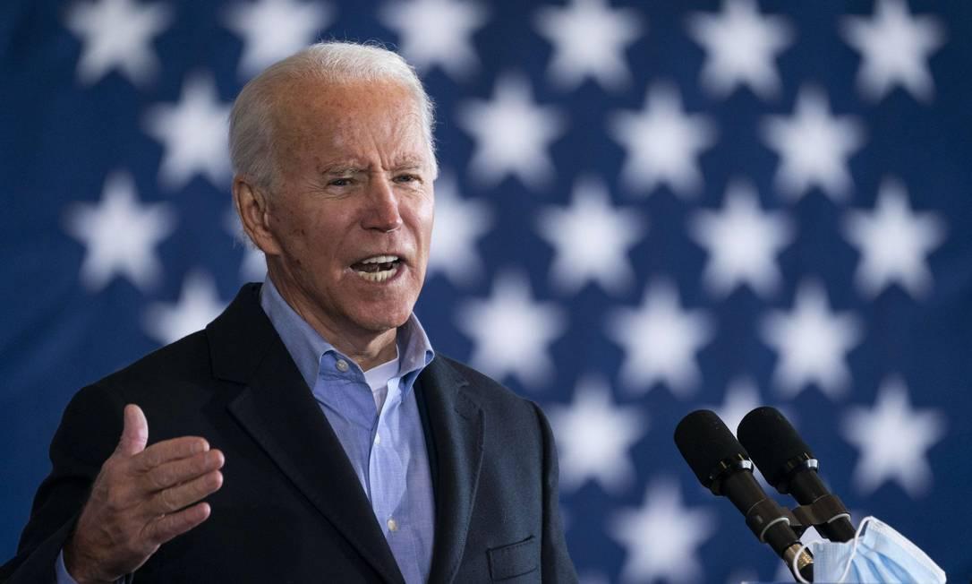 Candidato à Presidência dos EUA, o ex-vice-presidente Joe Biden Foto: Drew Angerer / AFP