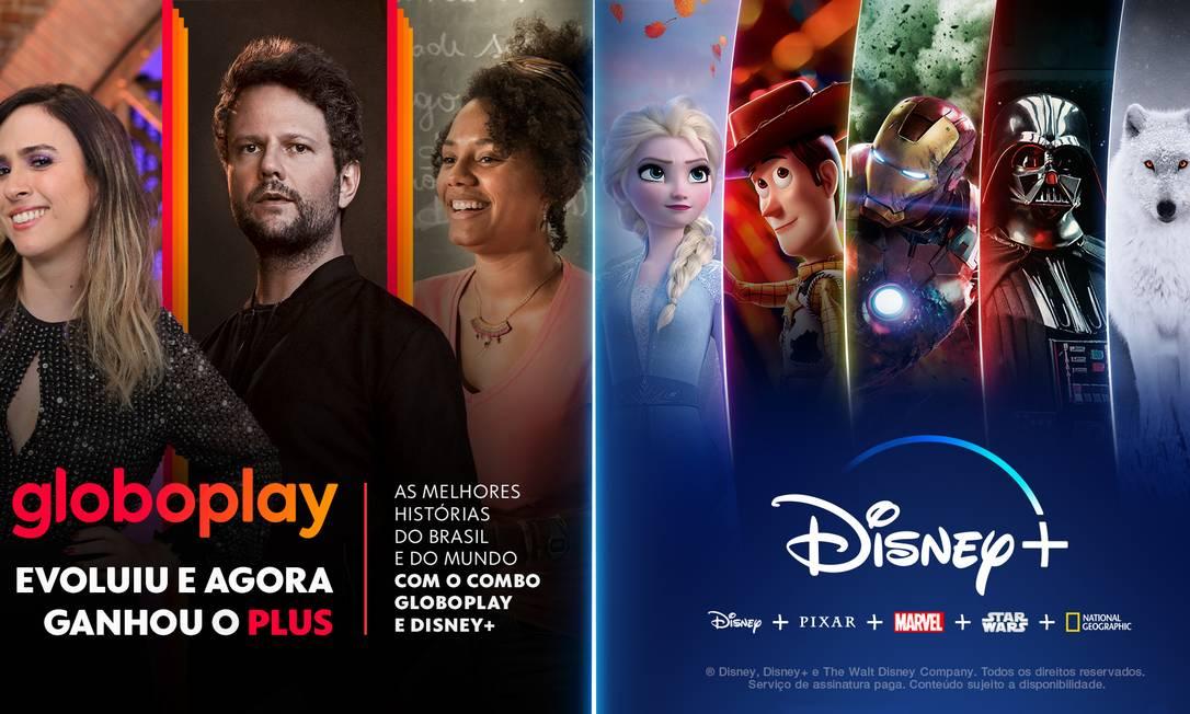 Parceria do Globoplay com a Disney + Foto: Divulgação