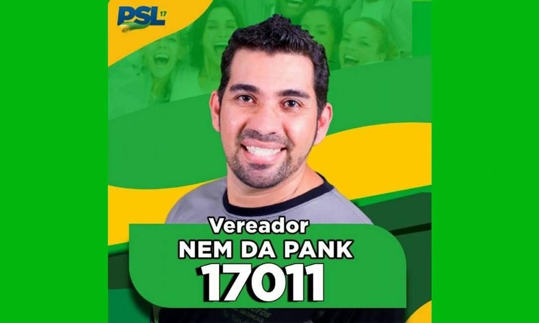Nem da Pank (PSL) é candidato a vereador de São Gonçalo. Foto: Reprodução / YouTube
